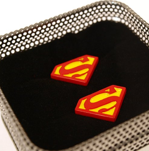  : Superman cufflinks - Classic logo