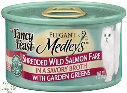 Fancy Feast Elegant Medley`s Shredded Wild Salmon Fare w/ Ga