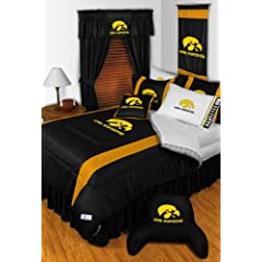 Iowa Hawkeyes QUEEN Size 15 Pc Bedding Set (Comforter, Sheet Set, 2 Pillow Cases, 2... by Sports Coverage