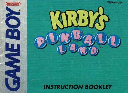 Kirby'S Pinball Land Gb Instruction Booklet (Game Boy Manual Only - No Game) (Nintendo Game Boy Manual) front-583247
