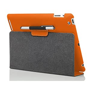 Photive Ultra Slim Folio Case w/ Stand for The New iPad - Side