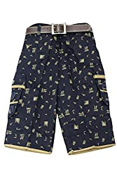 Titrit Black cotton Printed Capri for Boys