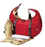 OiOi Hobo Slouch Nylon Twill Bag (Red)