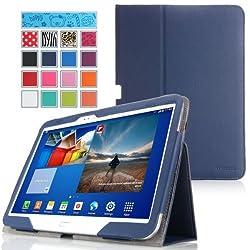 MoKo Samsung Galaxy Tab 3 10.1 Case - Slim Folding Cover Case for Samsung Galaxy Tab 3 10.1 Inch GT-P5200 / GT-P5210 Android Tablet INDIGO (with Smart Auto Wake / Sleep Feature)