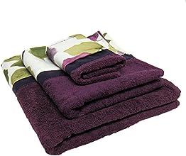 Popular Bath Jasmine 3-Piece Towel Set Plum