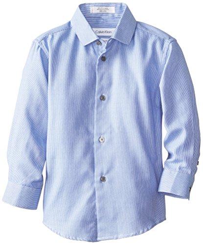 Calvin Klein Little Boys' Ck Long Sleeve Rope Stripe, Medium Blue, 06