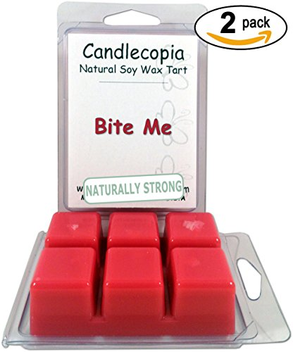 Candlecopia Bite Me 6.4 Oz Scented Wax Melts - Fresh Citrus Notes Of Lime And Orange Sparkle With Effervescent Highlights As They Lead To A Luscious Blend Of Berry And Cherry - 2-Pack Of Naturally Strong Scented Soy Wax Cubes Throw 50+ Hours Of Fragrance