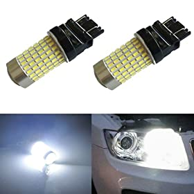 JDM ASTAR 1200 Lumens Extremely Bright 144-EX Chipsets 3056 3156 3057 3157 LED Bulbs with Projector , Xenon White