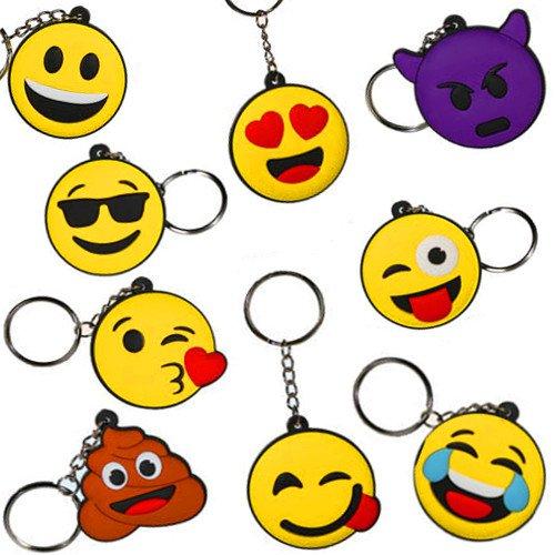 german-trendsellerr-12-x-emoji-charm-mix-neu-anhanger-twitter-icons-mitgebsel-kindergeburtstag-12-st