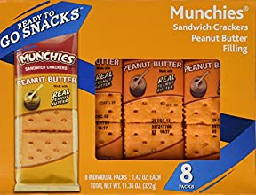Frito Lay Munchies Peanut Butter Sandwich Crackers 1136oz Box Pack of 4