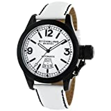 Stuhrling Original Men's 215L.3355P3 Sea Hawk Sportsman's Automatic White Dial Watch