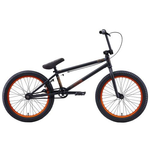 Eastern Bikes Wolfdog 2013 Edition BMX Bike (Matte Black/Orange Rim, 20-Inch)
