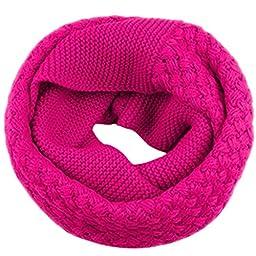 Niyatree Women\'s Winter Warm Knited Infinity Scarf - Sunflower Rose Red