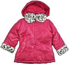 London Fog Girls Pink Outerwear Coat WFaux Fur