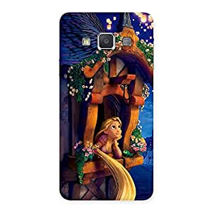 Delighted Angel Thinking Multicolor Back Case Cover for Galaxy A3