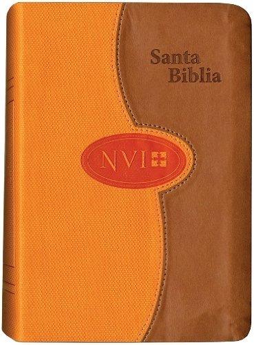 NVI Larger Print Bible - DuoTone Honey/Orange: NVI Biblia Compacta de Letra Grande con Concordancia (Spanish Edition)