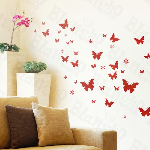 Pink Flying Home 2 - Wall Decals Stickers Appliques Home Decor