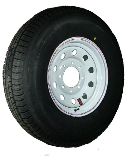 16″ x 6″ White Modular Trailer Wheel  radial