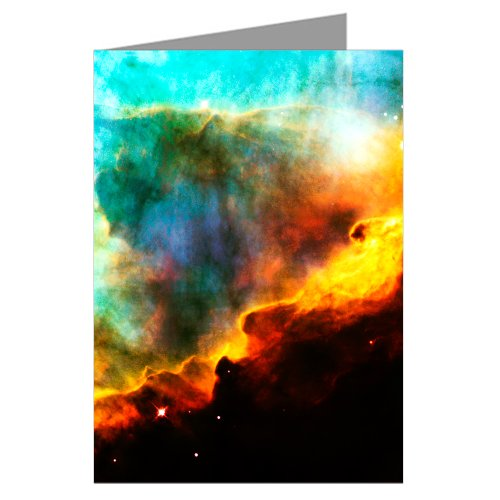 A Perfect Storm Of Turbulent Gases Within The Swan Nebula-Hubble Telescope Image From Nasa-Boxed Notecard Set