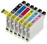 (6 色セット) InkHero Epson IC32,IC6CL32 ICBK32, ICC32, ICLC32, ICLM32, ICM32, ICY32 PM-A850, PM-A870, PM-A890, PM-D750, PM-D770, PM-D800, PM-G700, PM-G720, PM-G730, PM-G800, PM-G820 【互換インクカートリッジ 】