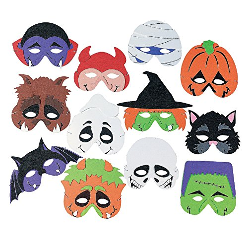 12 Foam Monster Masks - Halloween Party Supplies