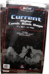 (100) Current Age Mylar Comic Sleeves - 2 Mil Thick - BCW by BCW