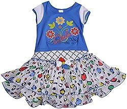 Be BeBo Girl's Cotton Dress (853, Blue, 1 Year )