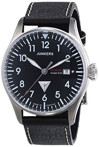 Junkers 61562 - Orologio da polso uomo, pelle, colore: marrone