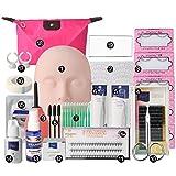 RoseSummer Mannequin Training MakeUp False Eyelashes Extension Glue Tool Practice Kit