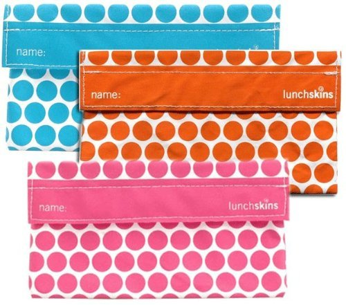 Lunchskins Reusable Snack Bag 3pk - Dots - 1