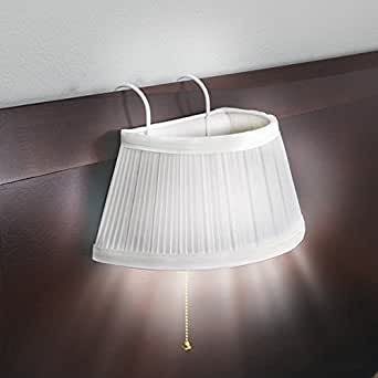 Designer White Over Headboard Bed Lamp Light Night Reading