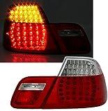 LED R�ckleuchten Set, Klarglas Rot-Wei�