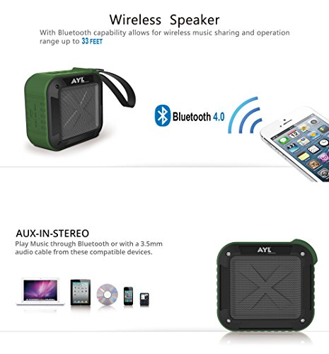 Best-Portable-Outdoor-and-Shower-Bluetooth-40-Speaker-by-AYL-SoundFit