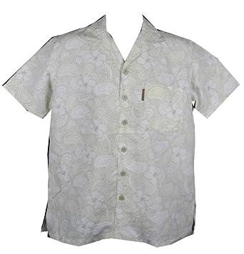 Mens TRESPASS BLAKIE Hawaiian Beach Surf Shirt BEIGE SIZE SMALL