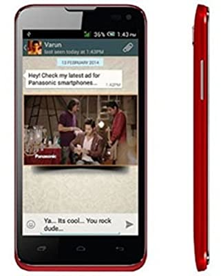 Panasonic T41, Now With 4 GB ROM, Quad Core 1.3 GHz. Color - Red