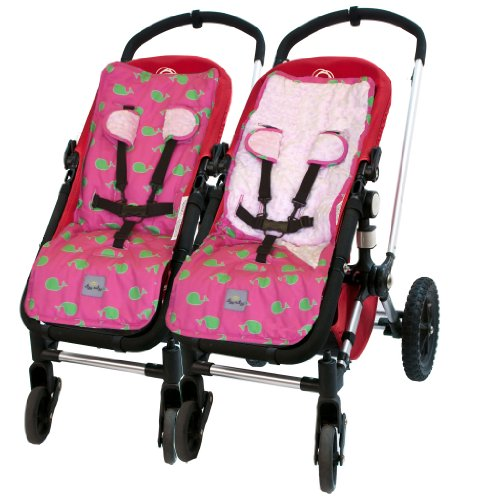 Itzy Ritzy Stroller Liner, Whale Watching Pink