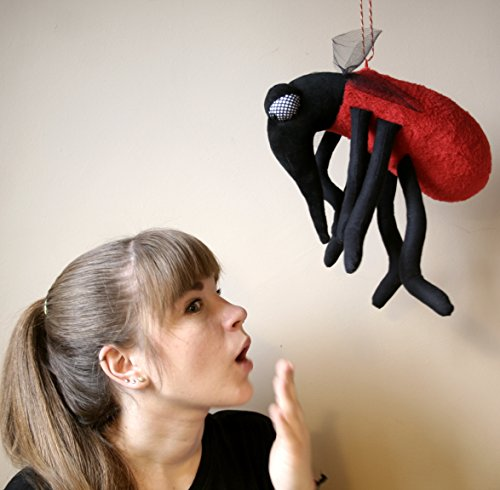 evil-mosquito-red-bloodsucker-insect-halloween-plushie-decoration-stuffed-animal-funny-soft-toy