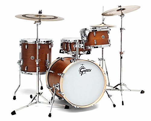GRETSCH-GB-J483-SM-USA-BROOKLYN-12x8-14x14-18x14-SATIN-MAHOGANY-Drumsets-Jazz-drumkit