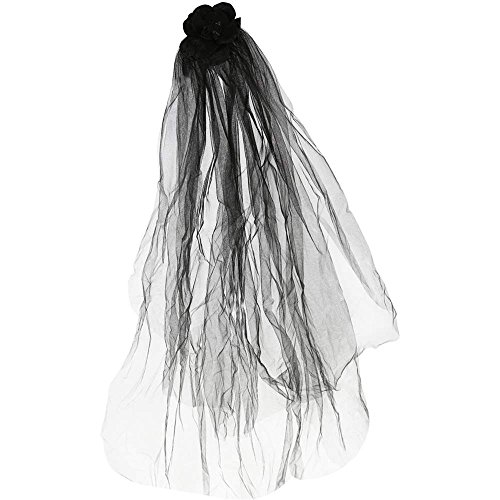 Kids Gothic Midnight Bride Veil - One Size