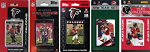 NFL Atlanta Falcons 5 Different Licensed Trading Card Team Sets by C&I Collectables