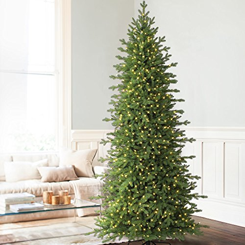 9' Balsam Hill Red Spruce Slim Artificial Christmas Tree - Clear