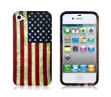 Leegoal(TM) Old Fashioned Style Unite States American Flag Covered Edge Hard Case Cover For Apple iPhone 4 4S With Accessories Sreen Protector,Anti Dust Plug Reviews
