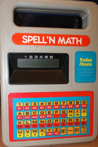 Spell N Math Electronic Learning System ~ Radio Shack Cat. No. 60-1093 ~ Vintage Toy - 1
