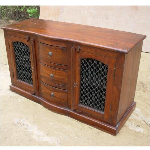 Buy Low Price sierralivingconcepts Iron work Solid Wood Sideboard Buffet Hutch Storage Chest Cabinet Table (B0013NADS2)