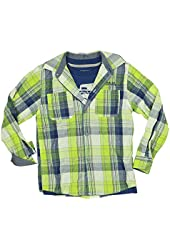 Kenneth Cole Reaction Boys 2-Piece Tee & Shirt Set Medium Blue/Lime