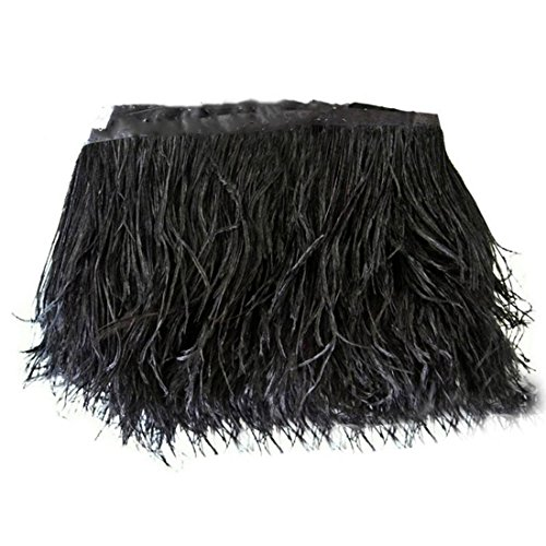 Why Should You Buy Lanshi Ostrich Feathers Trims Fringe with Satin Ribbon Tape for Dress Sewing Craf...