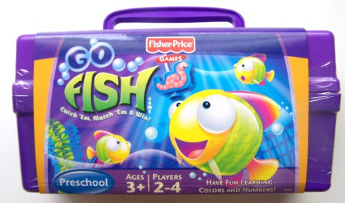 Go fish game with tackle box buy fisher price toys for Fisher price fishing pole