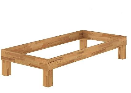 Solido telaio letto/futon 90x200 in Rovere Eco laccato 60.88-09 oR
