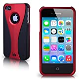 CaseCrown Exo Case (Red / Black) for Apple iPhone 4 & 4S