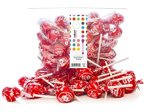 Tootsie Pops Cherry - 2 Lb. Resealable Bag (approx. 50 pops)